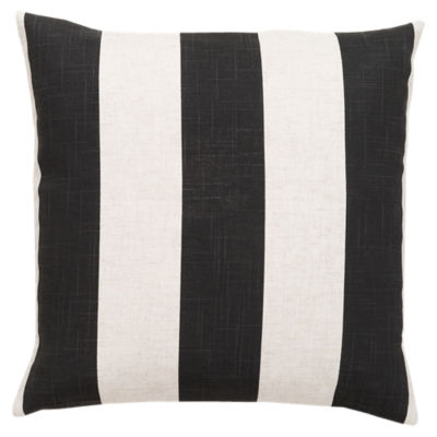 Picture of Simple Stripe Black and Ivory Pillow