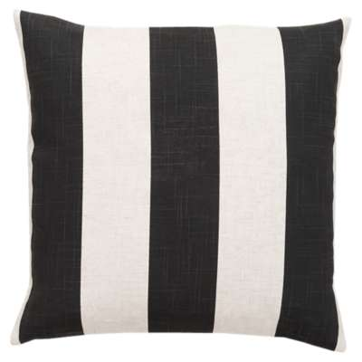 Picture for Simple Stripe Black and Ivory Pillow