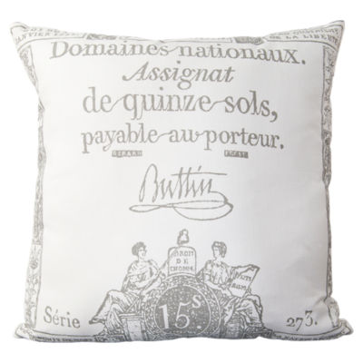 Picture of Montpellier Charcoal and Ivory Pillow