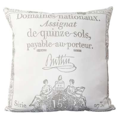 Picture for Montpellier Charcoal and Ivory Pillow