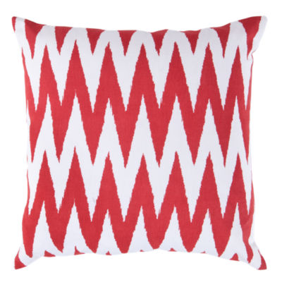 Picture of Chevron Pillow, Red