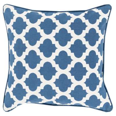 Picture for Morrocan Printed Lattice Navy Pillow