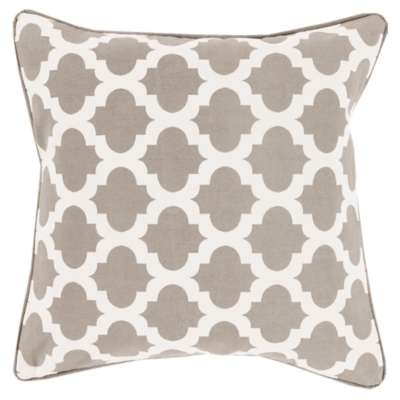 Picture for Morrocan Printed Lattice Gray Pillow