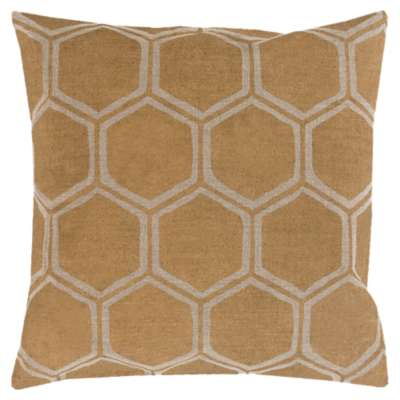 Picture for Metallic Stamped Beige and Gold Pillow