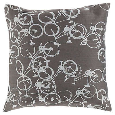 Light Gray Decorative Pillow : Decorative Bike Light Gray Pillow SmartFurniture.com - Smart Furniture