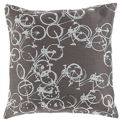 Light Gray Decorative Pillow : Decorative Bike Light Gray Pillow SmartFurniture.com - Smart Furniture