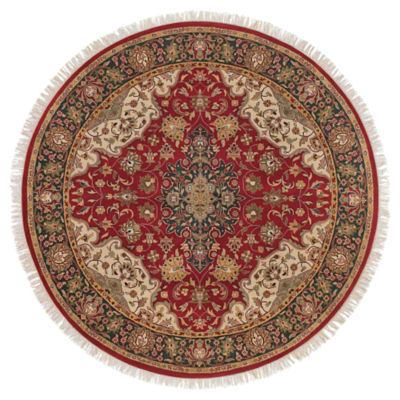 Picture of Taj Mahal Burgundy Round Rug