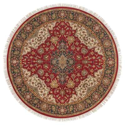 Picture for Taj Mahal Burgundy Round Rug