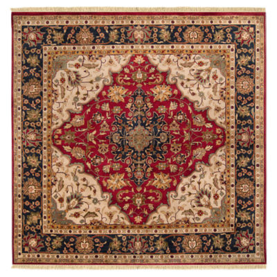 Picture of Taj Mahal Burgundy Square Rug