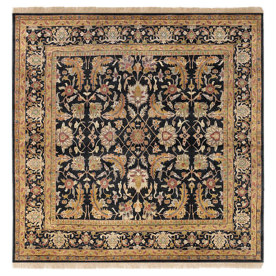 Picture of Taj Mahal Black Square Rug
