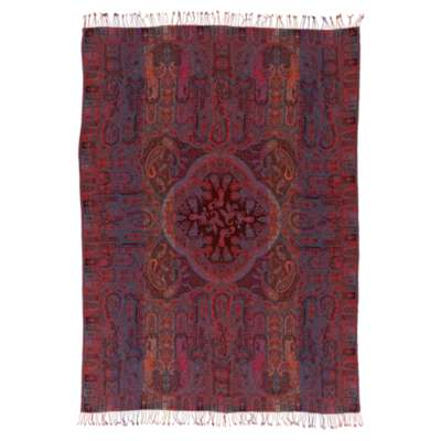Picture for Tenali Burgundy Throw