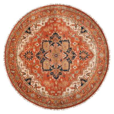 Picture for Zeus Salmon Round Rug