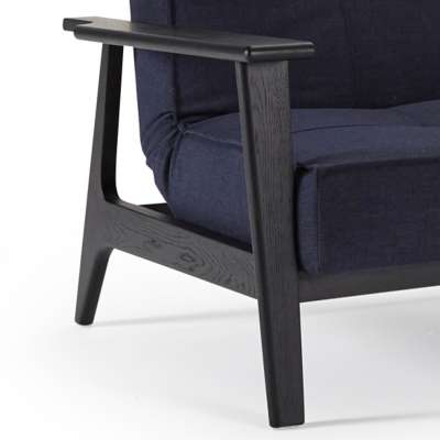 Frej Laquered Black for Dublexo Deluxe Lounge Chair by Innovation-USA (IN94741051C)