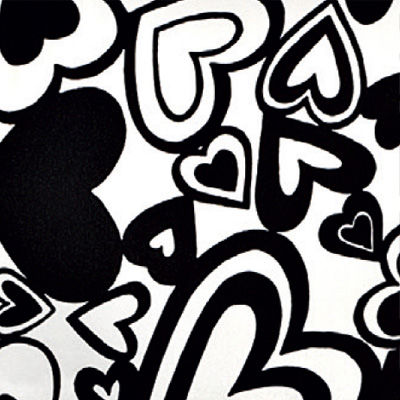 Moschino Print Black Hearts  for Mademoiselle Printed Chair by Kartell (KTMMC)