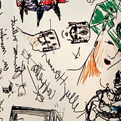 Moschino Print Sketches for Mademoiselle Printed Chair by Kartell (KTMMC)