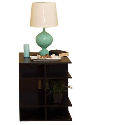 Picture of 2' Wide Square Bedside Table by Smart Furniture