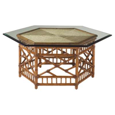 Picture for Island Estate Key Largo Cocktail Table With Glass Top by Tommy Bahama Home