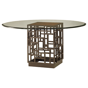 TBH01-0536-875-875GT: Customized Item of Ocean Club South Sea Round Glass Table by Tommy Bahama Home (TBH01-0536-87)