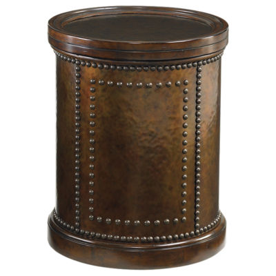 Picture of Kilimanjaro Harcourt Round Side Table by Tommy Bahama Home
