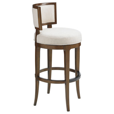 Picture of Island Fusion Macau Swivel Bar Stool by Tommy Bahama Home