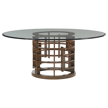 TBH01-0556-875-556-875T: Customized Item of Island Fusion Meridien Round Dining Table by Tommy Bahama Home (TBH01-0556-875)