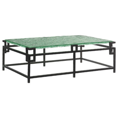 Picture of Island Fusion Hermes Reef Cocktail Table with Glass Top by Tommy Bahama Home