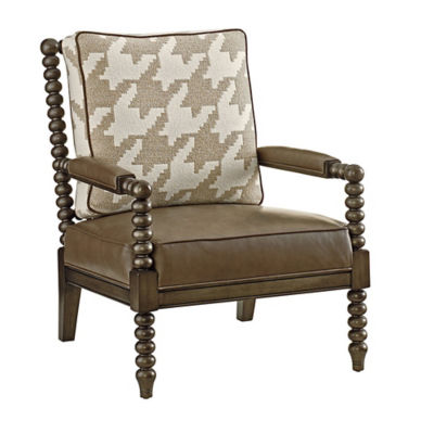 Picture of Cypress Point Marten Leather Chair by Tommy Bahama Home