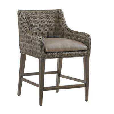 Picture for Cypress Point Turner Woven Counter Stool by Tommy Bahama Home