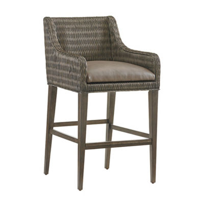 Picture of Cypress Point Turner Woven Bar Stool by Tommy Bahama Home