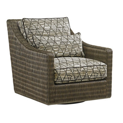 Picture of Cypress Point Hayes Swivel Chair by Tommy Bahama Home