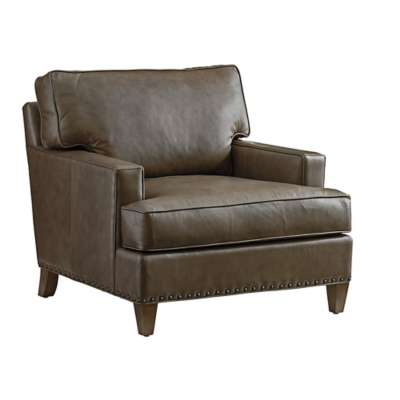 Picture for Cypress Point Hughes Leather Chair by Tommy Bahama Home