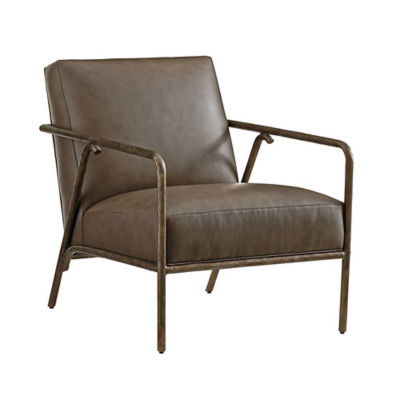 Picture of Cypress Point Griffin Leather Chair by Tommy Bahama Home