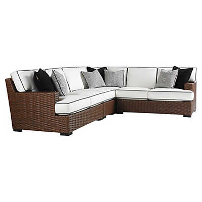 Picture of Ocean Club Pacifica Sectional Sofa with Boxed Edge Cushions