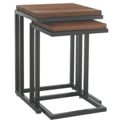 Picture of Ocean Club Pacifica Nesting Tables with Weatherstone Tops - Set of 2 by Tommy Bahama Outdoor