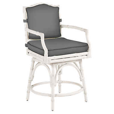 Picture of Island Estate Hamptons Swivel Counter Stool by Tommy Bahama Outdoor