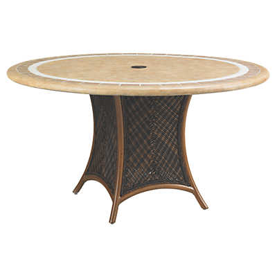 Picture of Island Estate Lanai 54 Inch Dining Table with Weatherstone Top by Tommy Bahama Outdoor