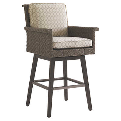 Picture of Blue Olive Swivel Bar Stool by Tommy Bahama Outdoor