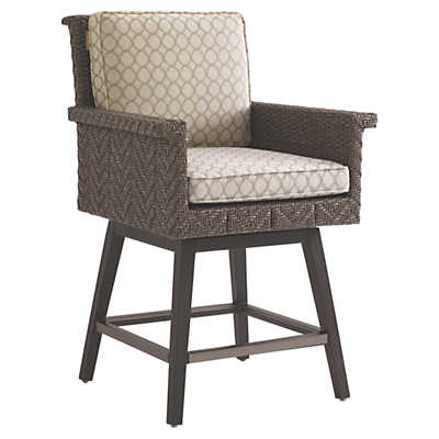 Picture of Blue Olive Swivel Counter Stool by Tommy Bahama Outdoor