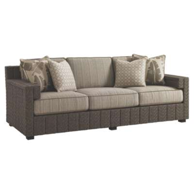 Picture for Blue Olive Sofa with Boxed Edge Cushions by Tommy Bahama Outdoor