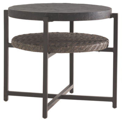 Picture of Blue Olive Round End Table by Tommy Bahama Outdoor