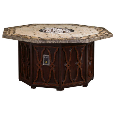 Picture of Black Sands Gas Fire Pit Table by Tommy Bahama Outdoor
