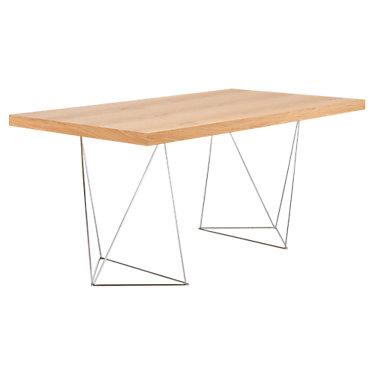 TEM077040-MULTI63T-WALNUT: Customized Item of Multi 160 Trestels Table (TEM077040-MULTI63T)