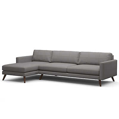 "Picture of Dane 116"" Sectional Sofa by TrueModern"