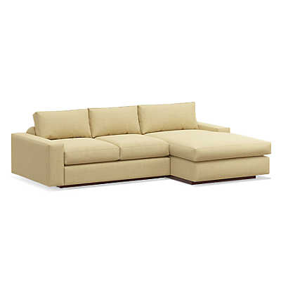 "Picture of Jackson 104"" Sofa with Chaise by TrueModern"