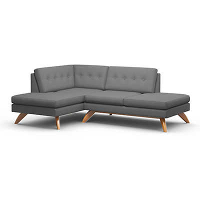 Picture of Luna Double Bumper Loft Sofa by TrueModern