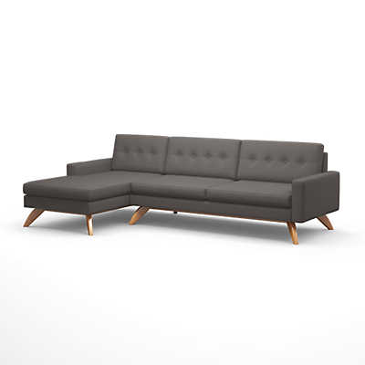 "Picture of Luna 113"" Sofa with Chaise by TrueModern"