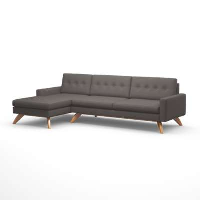 "Picture for Luna 113"" Sofa with Chaise by TrueModern"