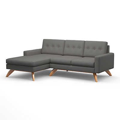 "Picture of Luna 90"" Sofa with Chaise by TrueModern"