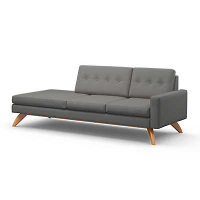Picture of Luna 1-Arm Sofa with Chaise by TrueModern