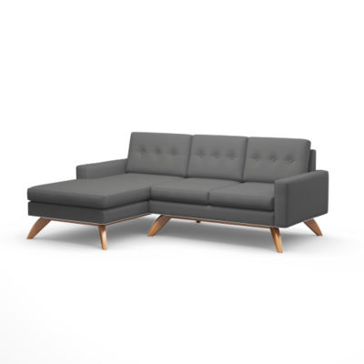TMLUNASOFALOFT-R-DOLPHIN-WALNUT: Customized Item of Luna Loft Sofa with Chaise by TrueModern (TMLUNASOFALOFT)